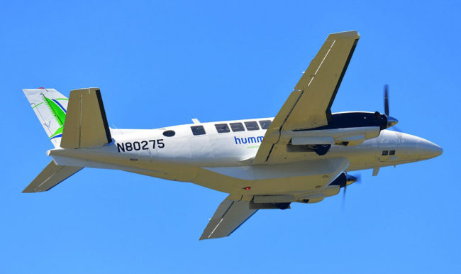 1970-Beechcraft-99-sn-U-134-reg-N80275-in-flight