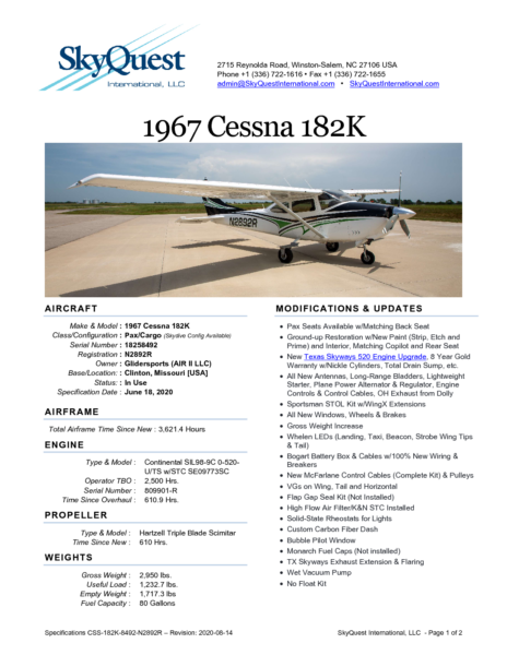 CSS-182K-8492-N2892R-Specifications-NEW