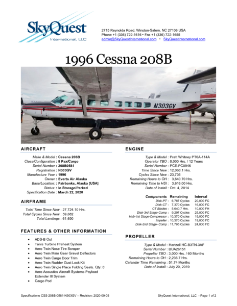 CSS-208B-0581-N303GV-Specifications