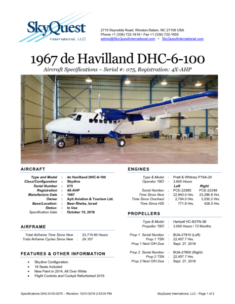 DHC-6100-0075-4XAHP-Specifications